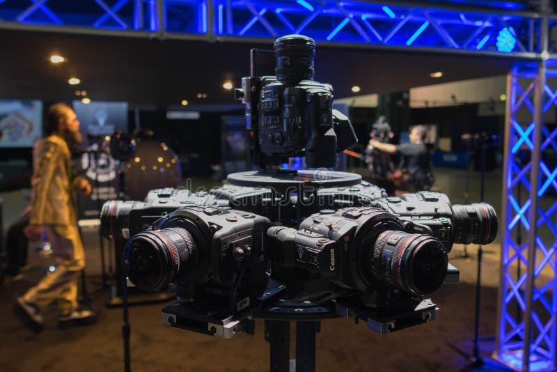 Sistema della Multi-macchina fotografica 360 VR fotografie stock libere da diritti