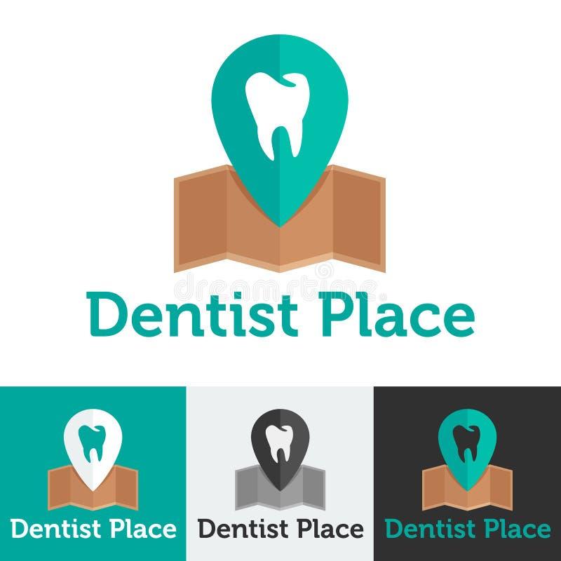 Sistema dental plano del logotipo de la clínica del vector ilustración del vector