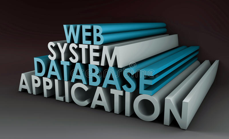 Sistema di applicazione Web illustrazione vettoriale