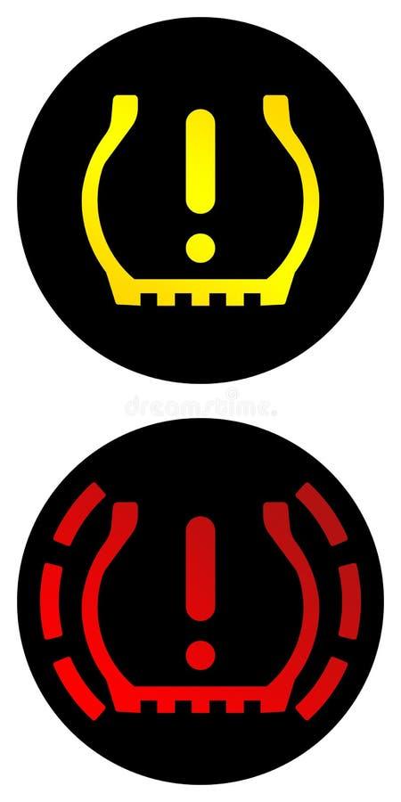 Sistema di controllo di pressione di gomma immagini stock