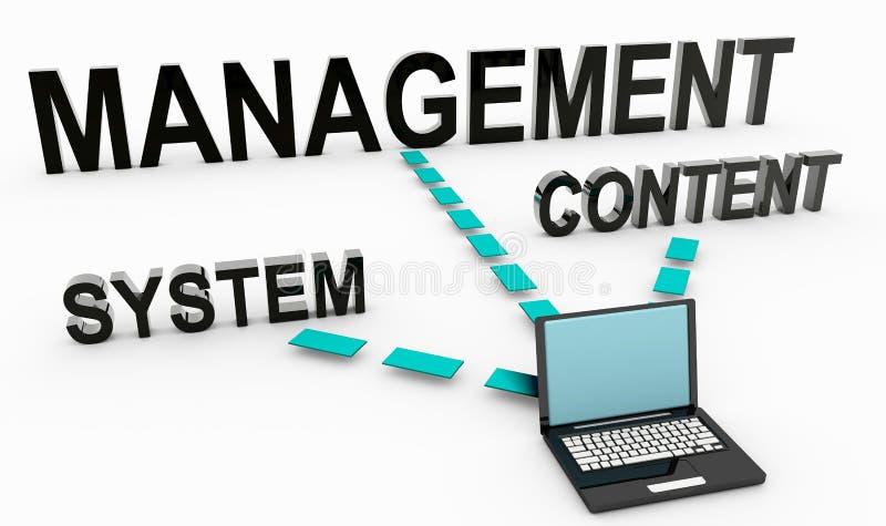 Sistema di gestione soddisfatto illustrazione di stock