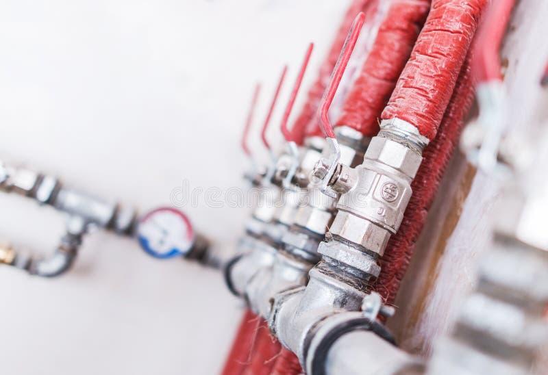 Sistema di impianto idraulico domestico fotografie stock