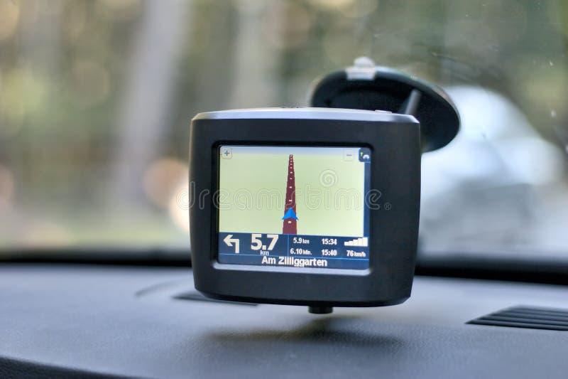 Sistema di percorso dell'automobile fotografia stock