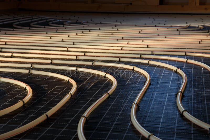 Sistema di riscaldamento radiante del pavimento immagine stock
