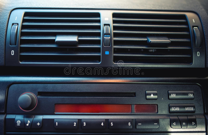 Sistema di ventilazione dell'automobile e del condizionamento d'aria immagini stock