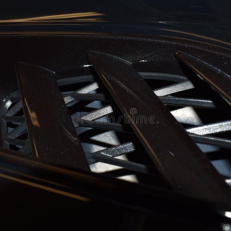 Sistema di ventilazione di esterno dell'automobile sportiva fotografia stock