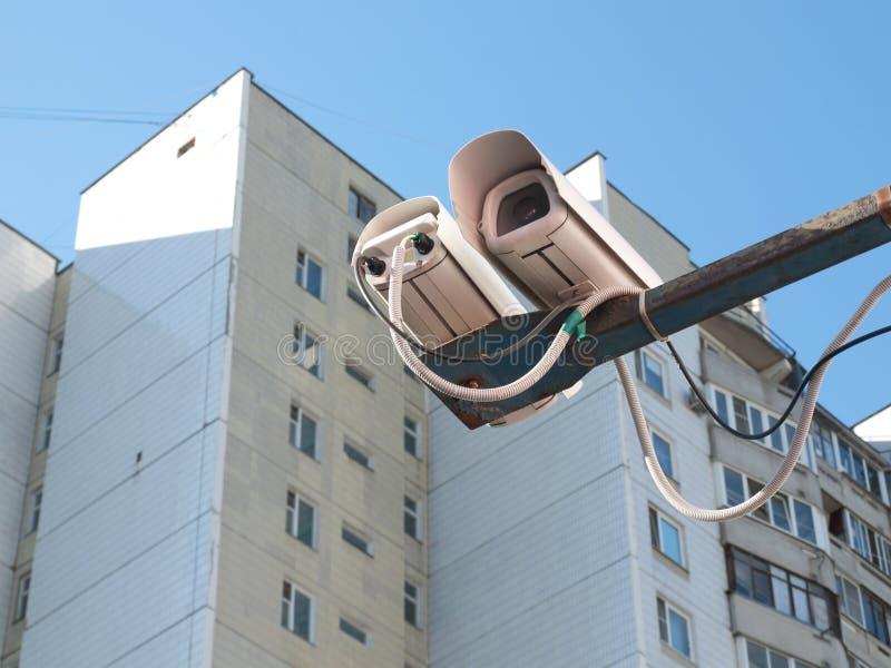 Sistema di videosorveglianza fotografia stock libera da diritti