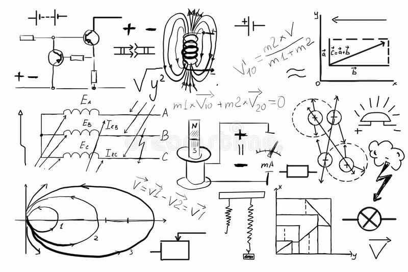 Sistema dibujado mano de la geometría fotos de archivo