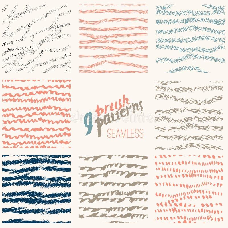 Sistema dibujado mano del vector de la línea elegante cepillo libre illustration