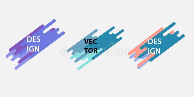 Sistema dinámico de las insignias de las formas Plantillas geométricas frescas Vector libre illustration