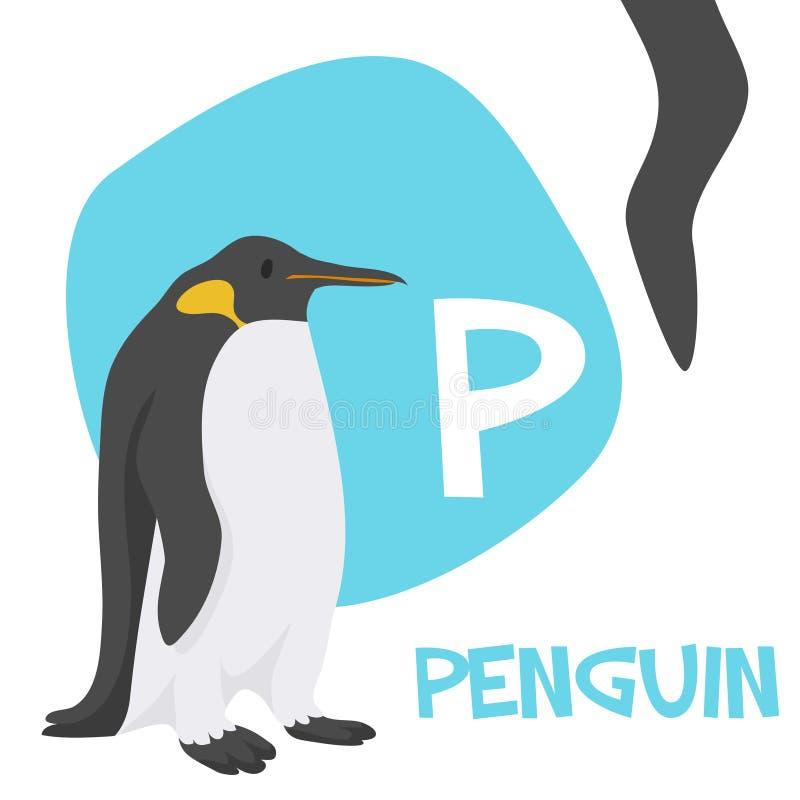 Sistema divertido de la letra del alfabeto del vector de los animales de la historieta stock de ilustración