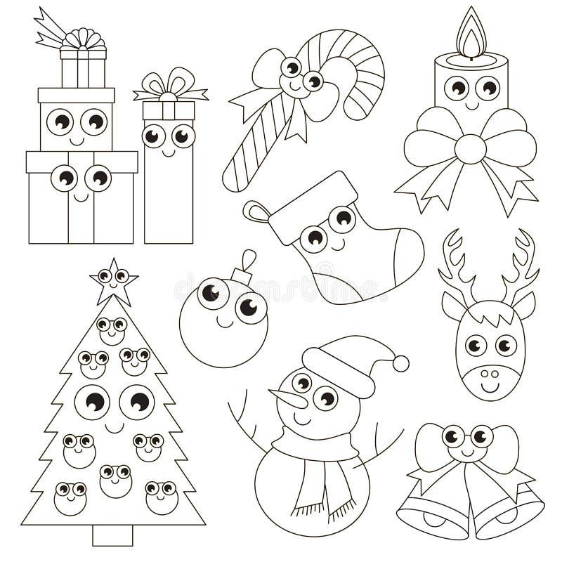 Sistema Divertido Del Día De Fiesta De La Navidad, La Página Grande ...