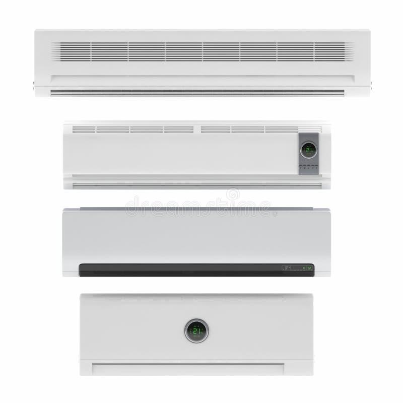 Sistema do condicionador de ar isolado ilustração stock