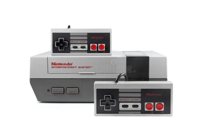 Sistema do entretenimento de Nintendo imagem de stock