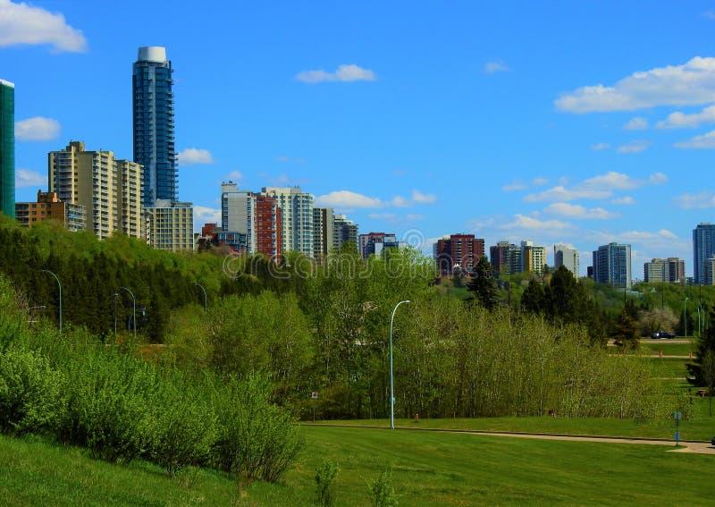 Sistema do parque de River Valley - Edmonton, Alberta, Canad? fotos de stock royalty free
