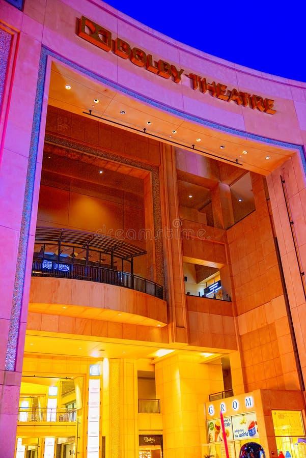 Sistema Dolby del teatro de Kodak donde se presenta el premio de la Academia anual foto de archivo libre de regalías
