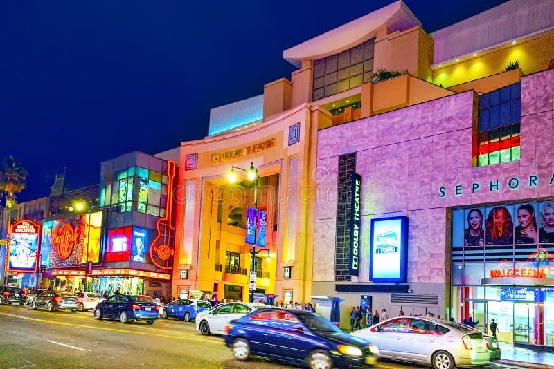 Sistema Dolby del teatro de Kodak donde se presenta el premio de la Academia anual imagenes de archivo