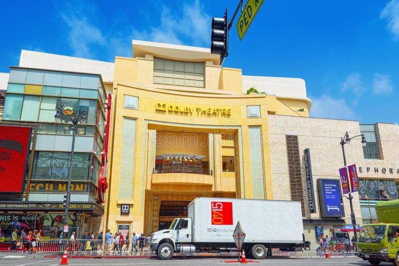 Sistema Dolby del teatro de Kodak donde se presenta el premio de la Academia anual imágenes de archivo libres de regalías