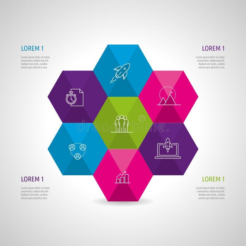 Sistema e Infographics del icono libre illustration