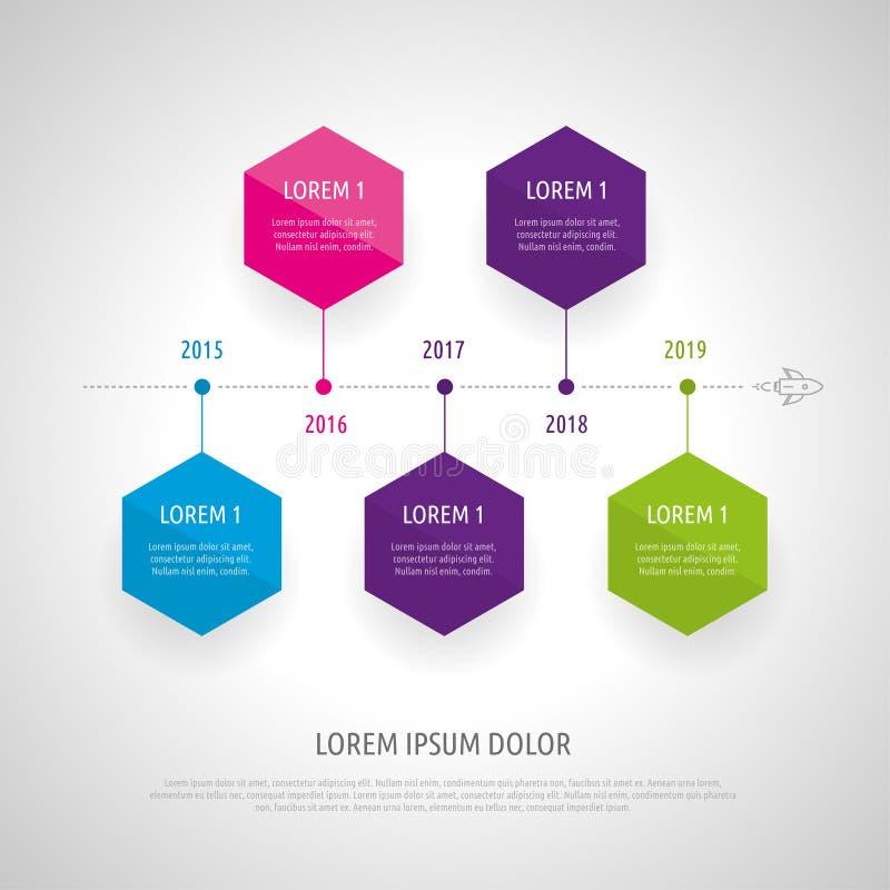 Sistema e Infographics del icono stock de ilustración