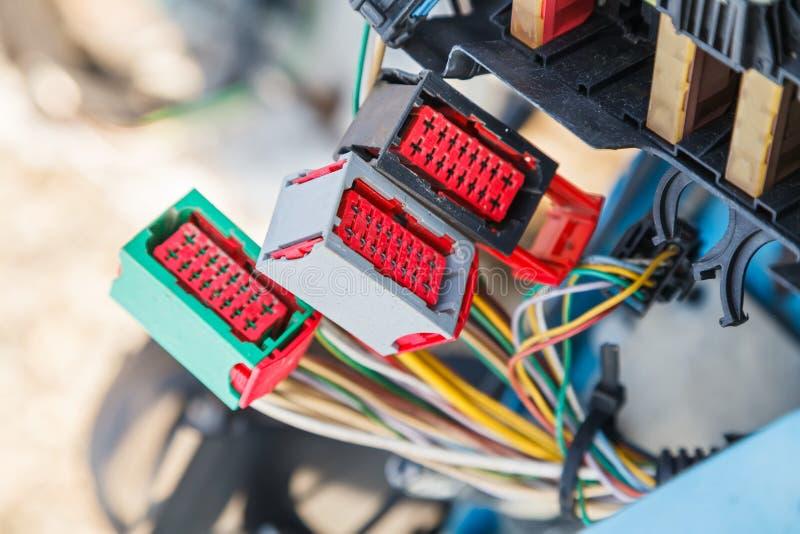 Sistema eléctrico del coche fotos de archivo