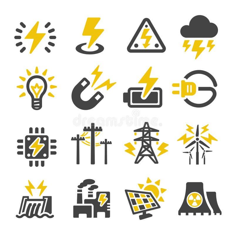 Sistema eléctrico del icono stock de ilustración