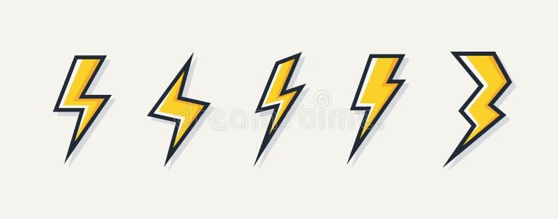 Sistema eléctrico del logotipo del rayo del vector ilustración del vector