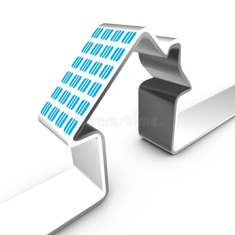 Sistema eléctrico solar ilustración del vector