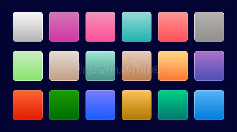Sistema elegante de pendientes coloridas del web ilustración del vector