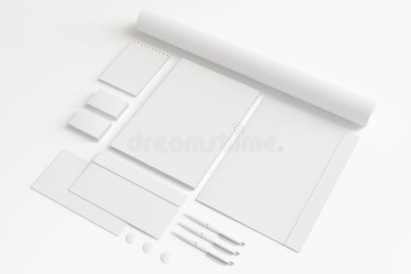 Sistema en blanco de los efectos de escritorio fotos de archivo