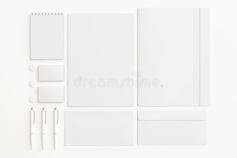 Sistema en blanco de los efectos de escritorio imagenes de archivo