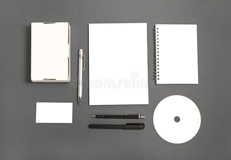 Sistema en blanco de los efectos de escritorio imágenes de archivo libres de regalías