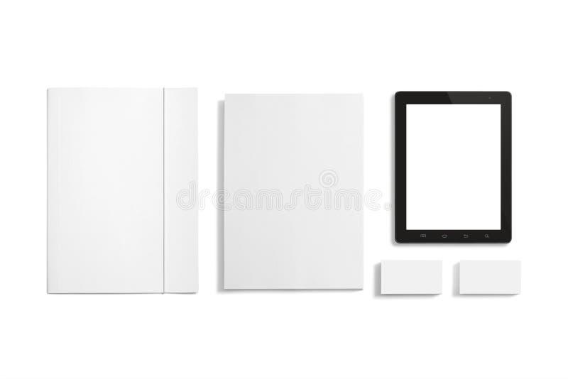 Sistema en blanco de los efectos de escritorio aislado en blanco. imágenes de archivo libres de regalías