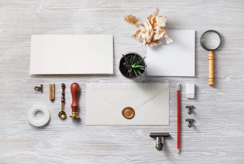 Sistema en blanco de los efectos de escritorio foto de archivo libre de regalías