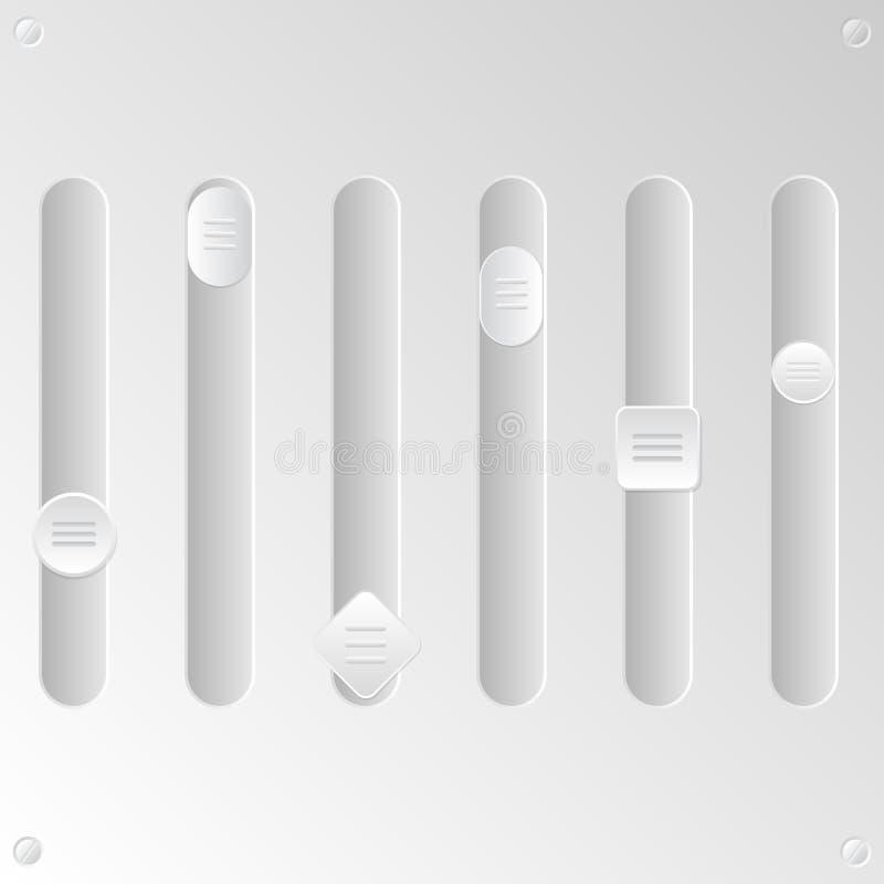 Sistema en blanco del equalizador stock de ilustración