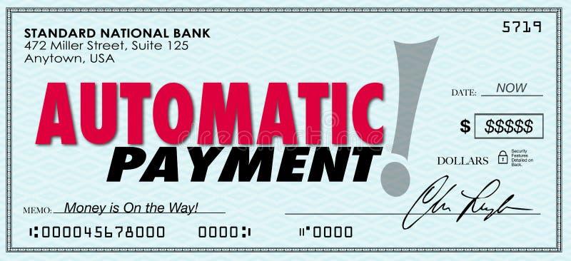 Sistema enviado control automático del programa informático del dinero del pago libre illustration