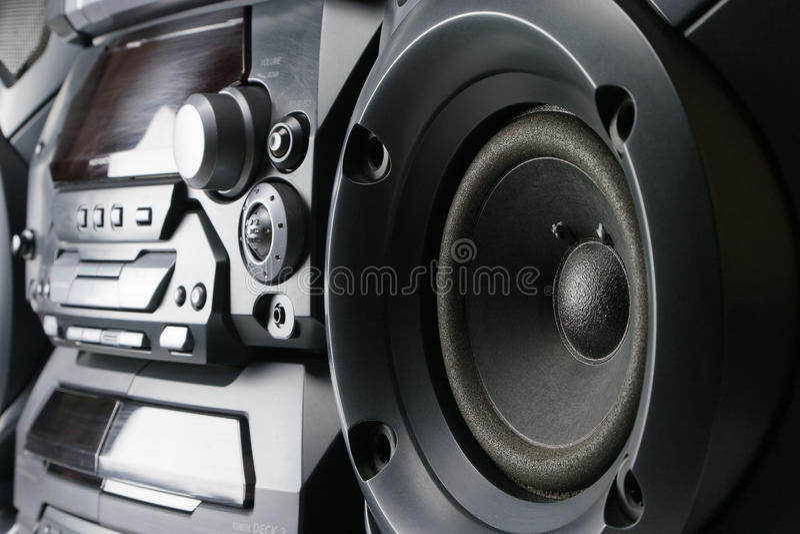 Sistema estereofónico compacto fotografia de stock royalty free