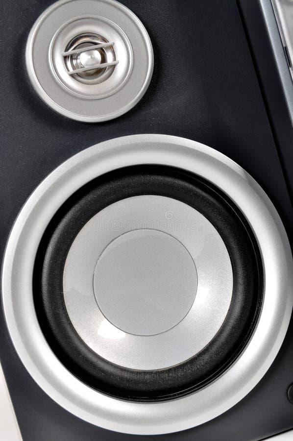 Sistema estereofônico e oradores compactos fotografia de stock royalty free