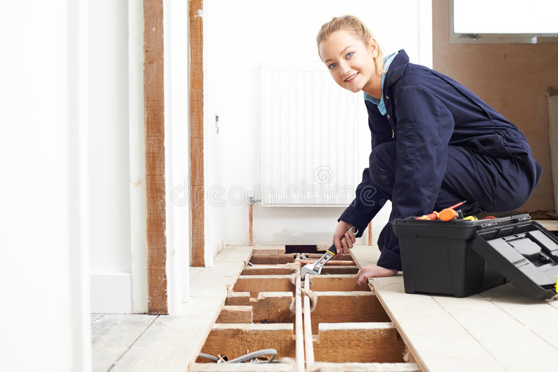 Sistema fêmea de Fitting Central Heating do encanador imagens de stock royalty free