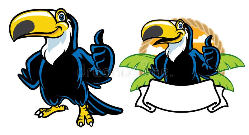 Sistema feliz de la historieta del tucán libre illustration