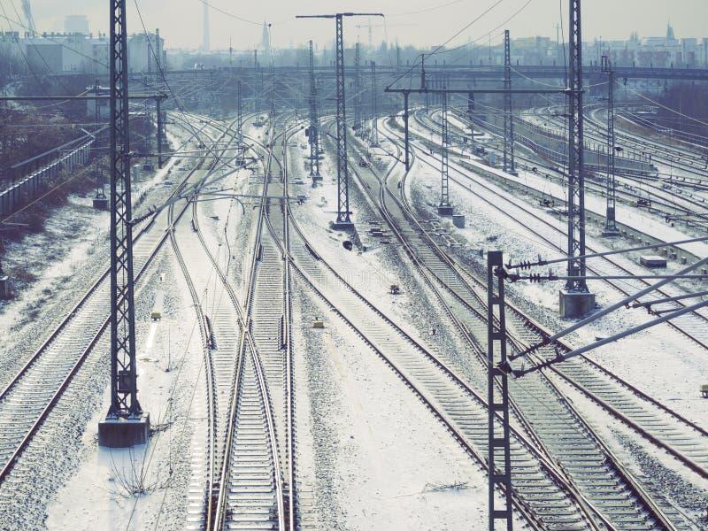 Sistema ferroviario imagen de archivo libre de regalías