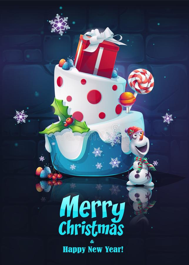 Sistema festivo - Feliz Año Nuevo Imagen brillante para crear los juegos originales del vídeo o del web, diseño gráfico, protecto stock de ilustración