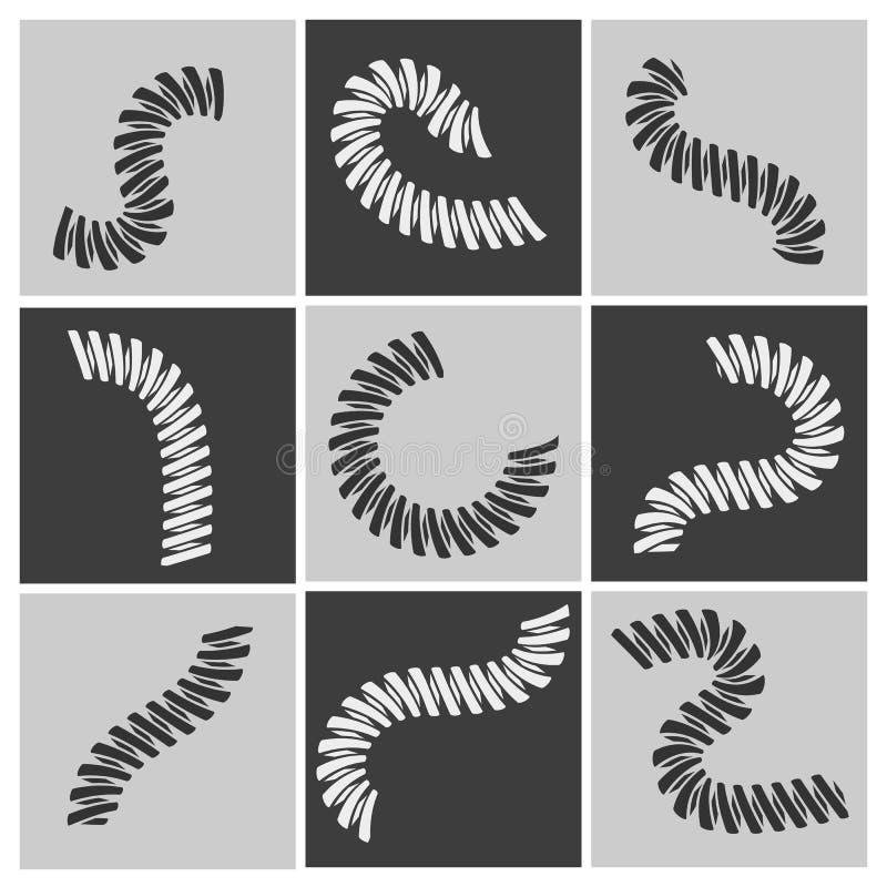 Sistema flexible de las primaveras stock de ilustración