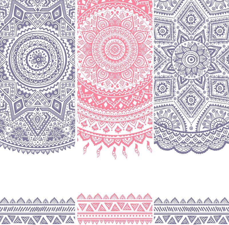 Sistema floral hermoso de banderas libre illustration