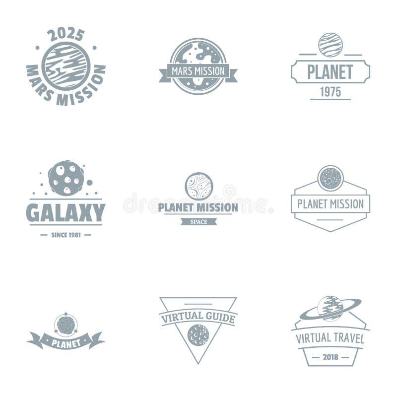 Sistema galáctico del logotipo, estilo simple libre illustration