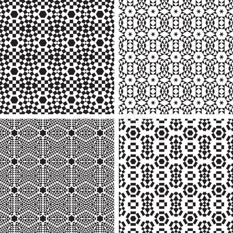 Sistema geométrico del modelo de los ornamentos. libre illustration