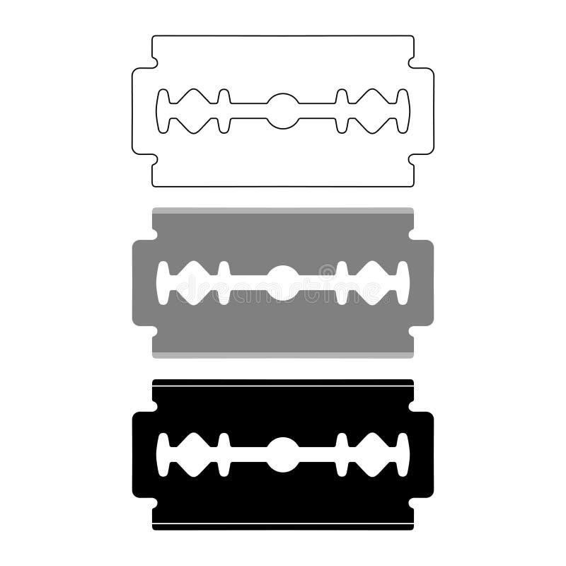 Sistema gráfico de los iconos de las cuchillas stock de ilustración