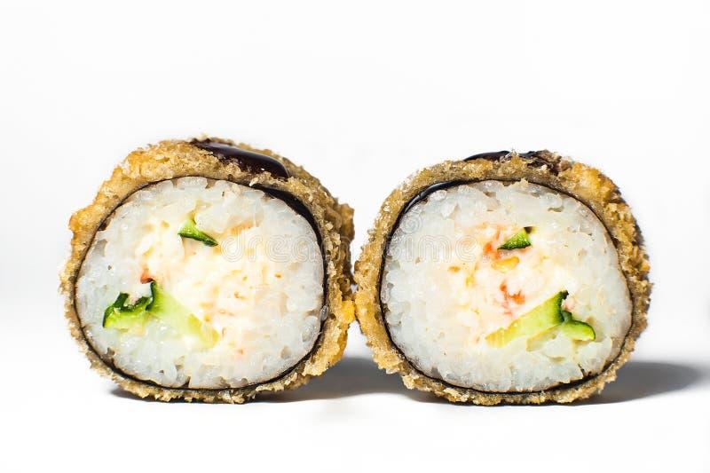 sistema grande con el sushi y los rollos imagen de archivo libre de regalías