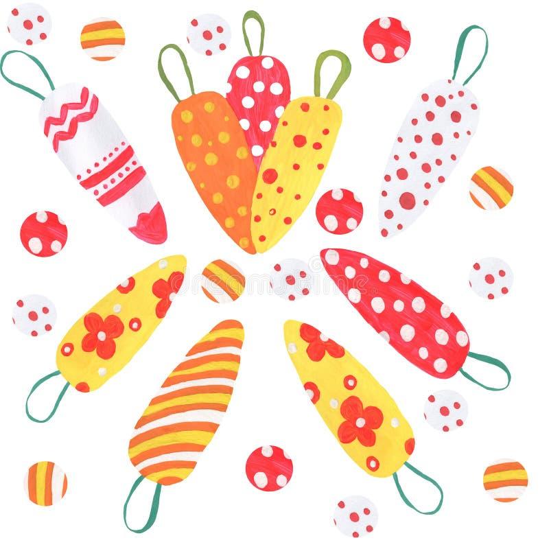 Sistema grande de ejemplos en el tema de la primavera y de Pascua libre illustration