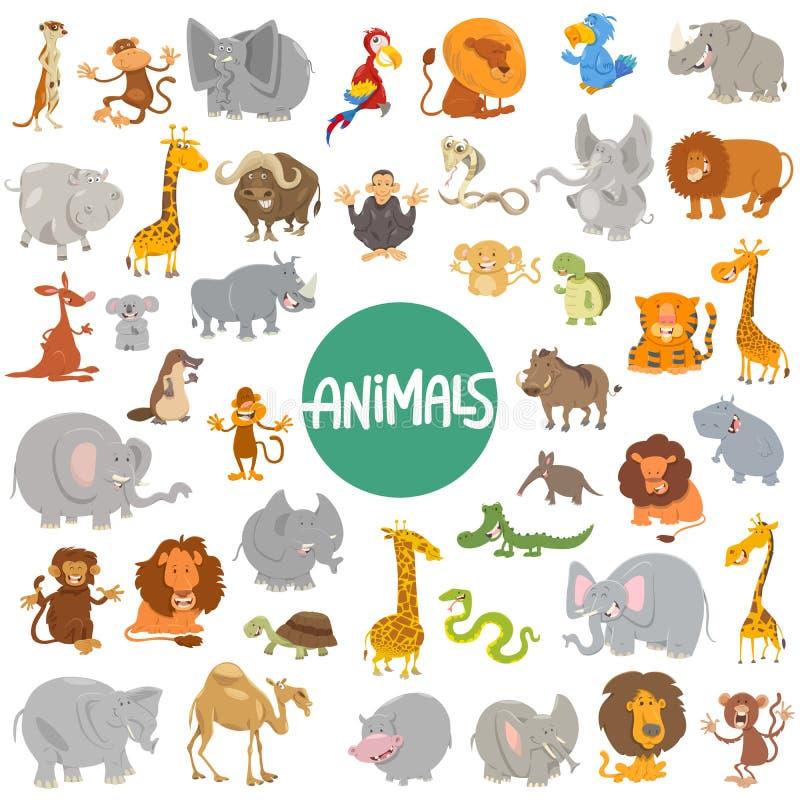 Sistema grande de los caracteres animales de la historieta libre illustration